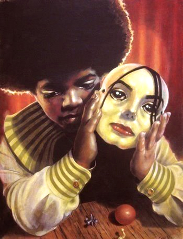 """Illustration """"The Boy Behind the Mask"""" by Sarah Weaver"""